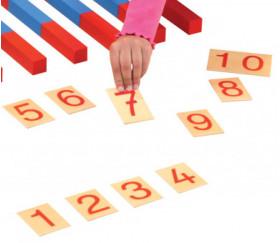 Chiffres Montessori en bois 1 à 10