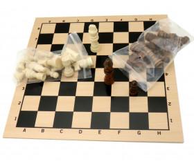 Jeu d'échecs en bois complet français