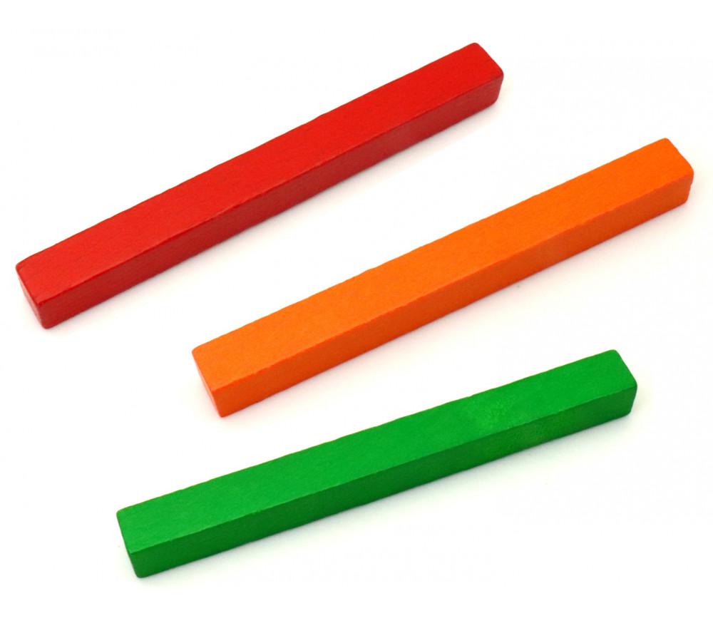 Batonnet 10 cm - 10x10x100 mm en bois pour jeu à l'unité