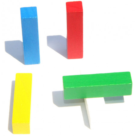 baguette jeu 4 cm. 10x10x40 mm en bois pour jeu à l'unité