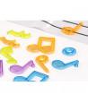 Set de 96 notes et symboles de musique couleur translucides