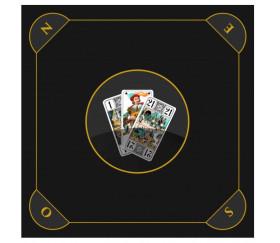 Tapis jeu Tarot 60 x 60 cm noir brun Les 3 bouts
