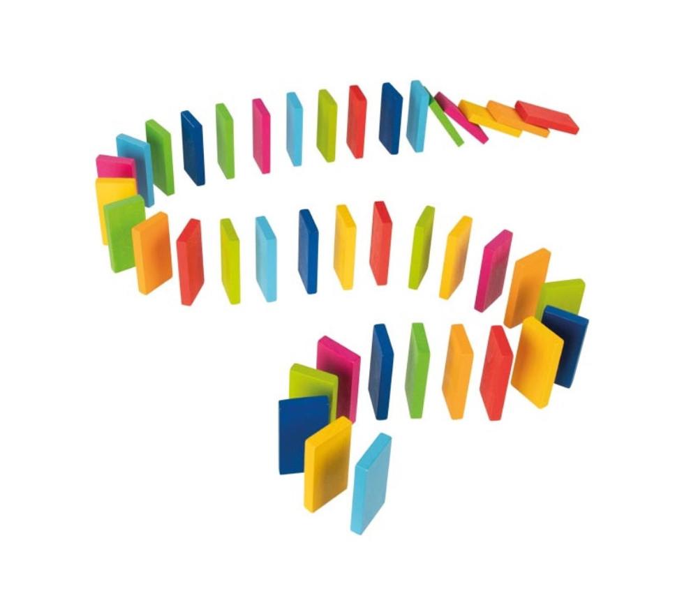 Rallye Dominos Arc en ciel - 48 jetons de 6 x 3 cm