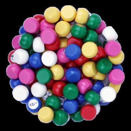90 boules de loto 22 mm de diamètre fond plat