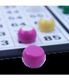 90 dômes 1 à 90 de 22 mm demi-boules numérotées plastique coloré.