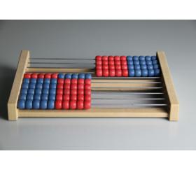 Boulier en bois 10 rangées bicolores 25 cm
