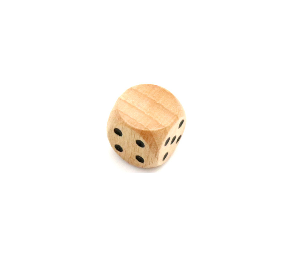 Dé 12345 Neutre en bois 16 mm