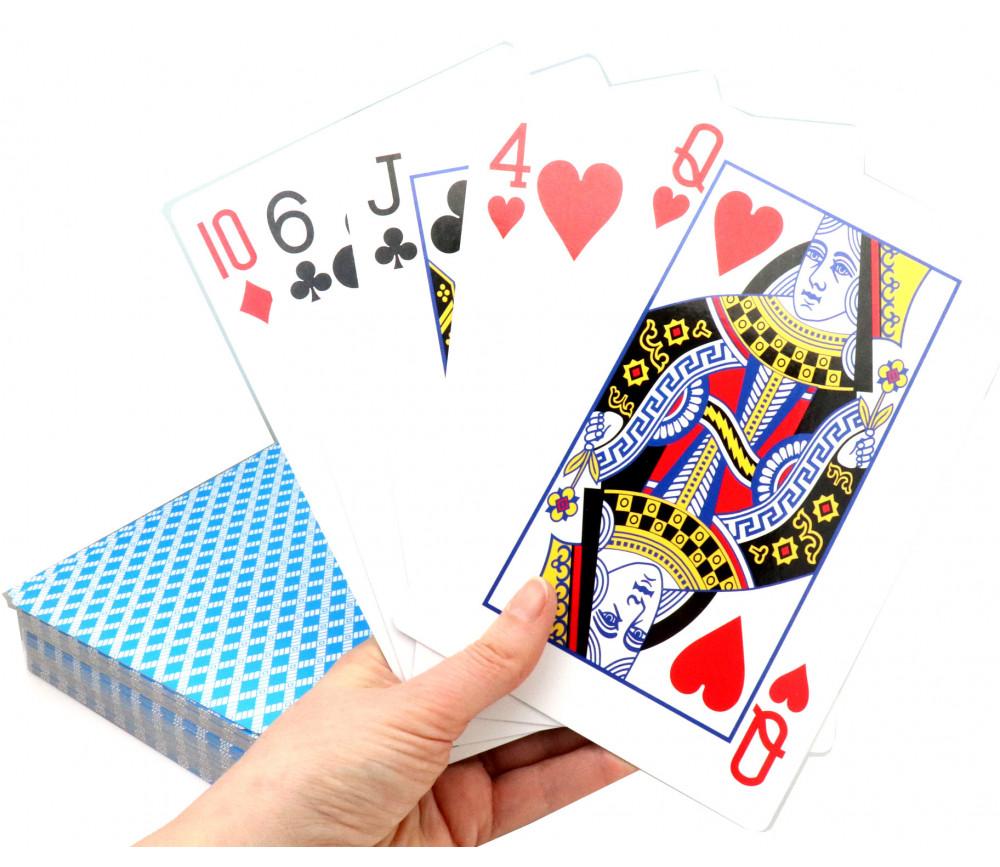 54 Cartes à jouer géante XXL 21 x 13.5 cm