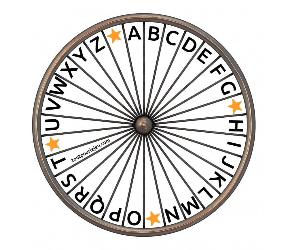 Roue Des Lettres Alphabet Gratuite A Imprimer Telecharger Gratuit Jeu
