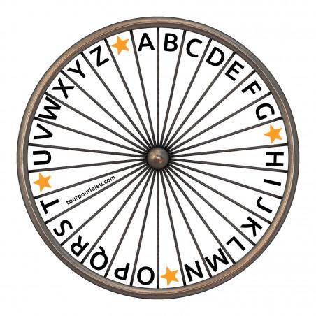 Roue des lettres de l'alphabet gratuite à imprimer à télécharger