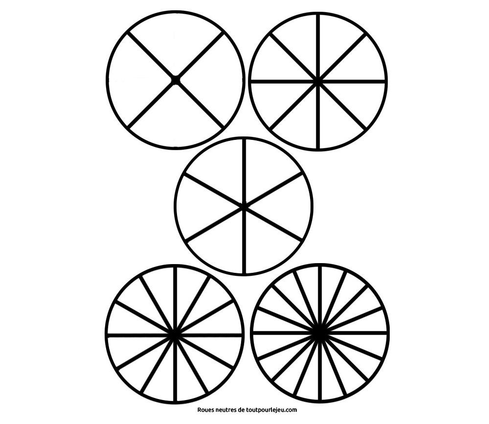 Roue Cercle Portion Blanche Neutre A Imprimer Et Telecharger Gratuit
