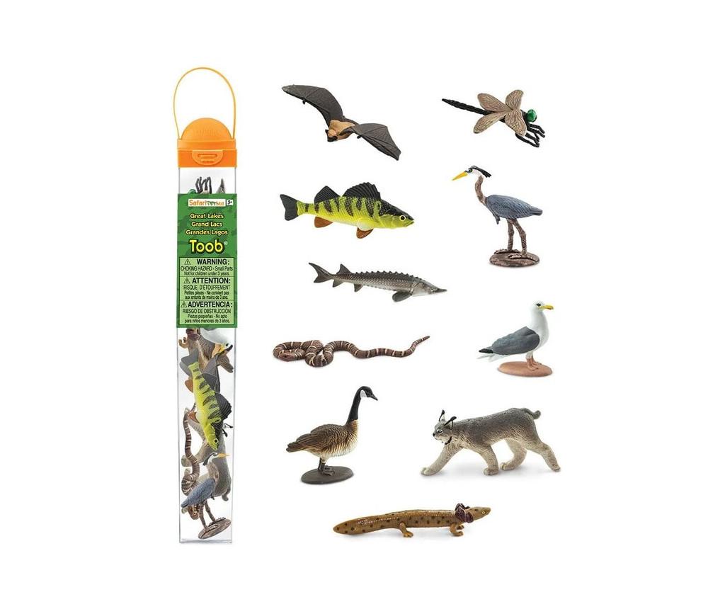 10 Figurines animaux des grands lacs