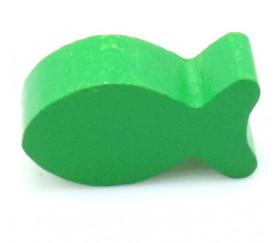 Pion poisson vert en bois 24 x 13 x 8 mm pour jeu