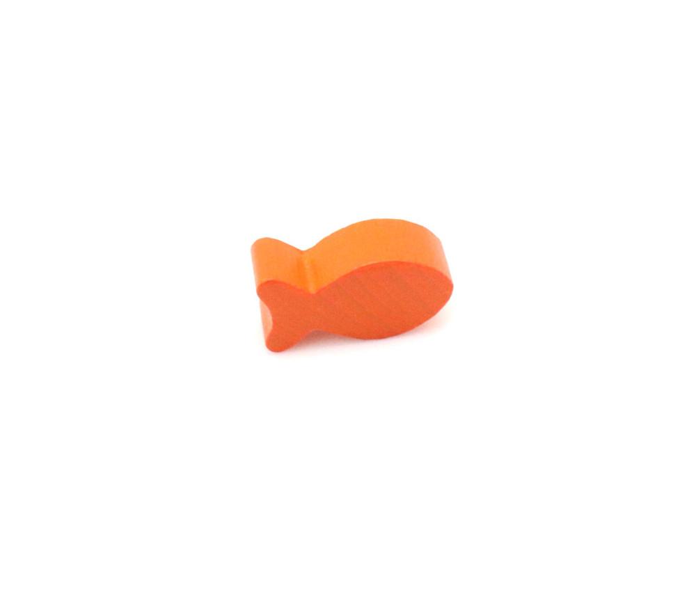 Pion poisson orange en bois 24 x 13 x 8 mm pour jeu