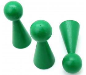 Pion bois XXL 10 cm VERT pour jeu. Grand pion 100 mm diam 43 mm