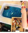 """9 véhicules bateaux figurines de jeux """"dans l'eau"""""""