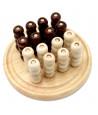 Tri-morpion rond en bois 64 boules 20 cm diamètre