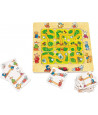 Puzzle labyrinthe trouve le chemin en bois
