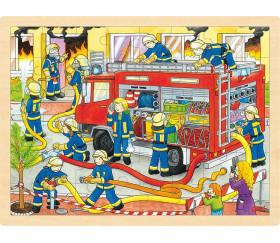 Puzzle en bois 48 pièces les pompiers
