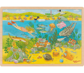 Puzzle 192 pièces le monde sous-marin avec images cachées