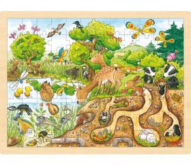 Puzzle en bois 96 pièces découverte de la nature