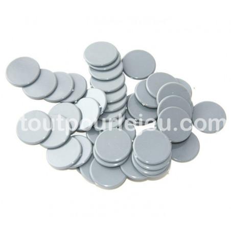 Jetons jeux 20 mm lot de 50 gris