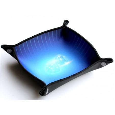 Piste de dés bleue 20 x 20 cm souple et résistante
