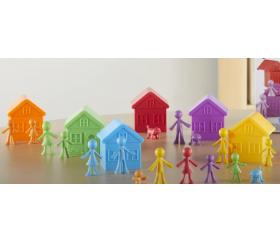 Matériel éducatif : 6 maisons + 36 personnages : manipulation, tri, classement et calcul