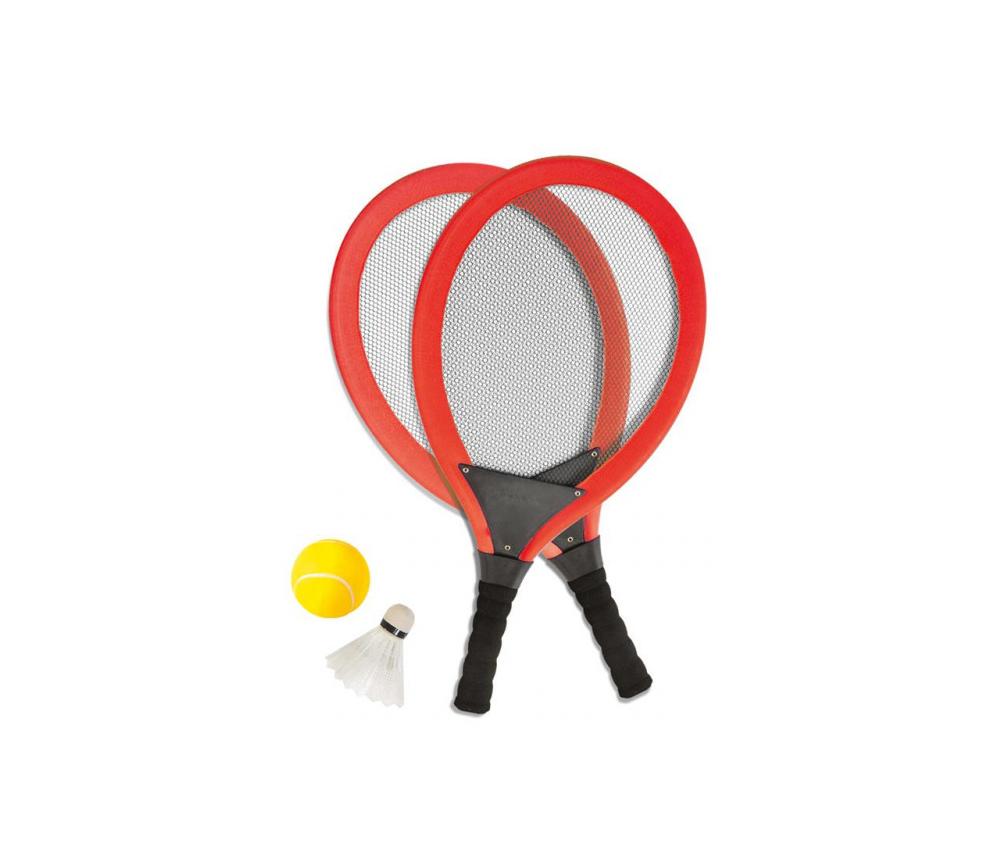 Raquettes jumbo enfant tennis badmington