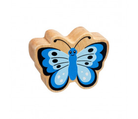 Papillon bleu en bois 54 x 70 x 25 mm