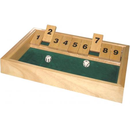 Fermez la boite jeu grand modèle 34 x 24 x 3 cm shut the box
