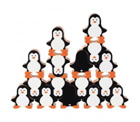 Pingouin en bois 40 x 42 x 15 mm à l'unité