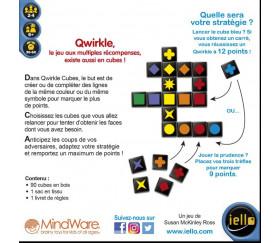 Qwirkle Cubes - Version dés à jouer jeu formes et couleurs