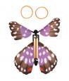 4 papillons volants avec élastique