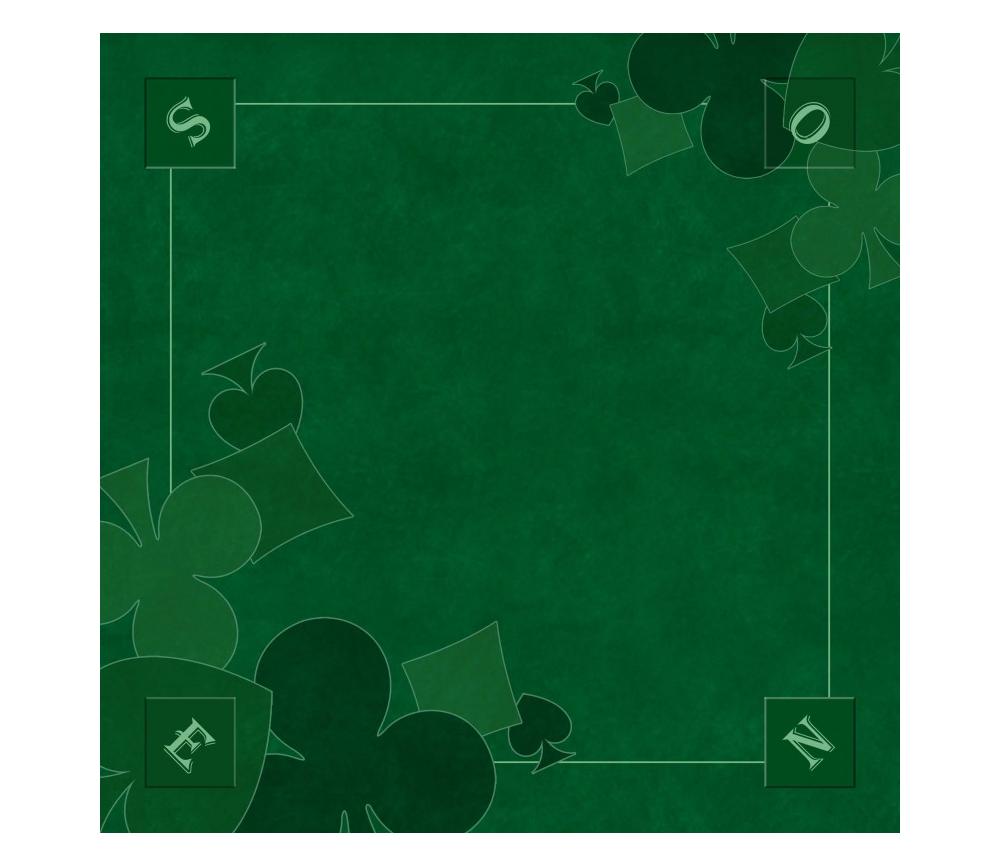 Tapis jeu 60 x 60 cm vert Nord-Sud Tarot