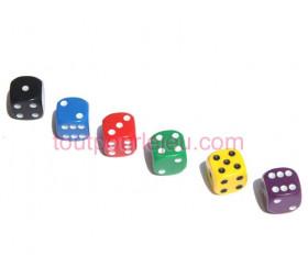Dé à jouer noir ou couleurs 16 mm points de 1 à 6 pour jeu de société