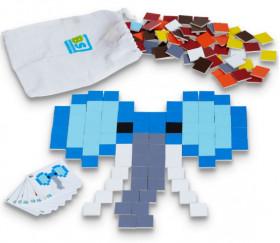 Pixel ART : Jeu de mosaïque 150 carrés bois 4 cm