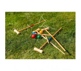 Jeu de croquet adulte/enfant 77 cm en bois 4 joueurs