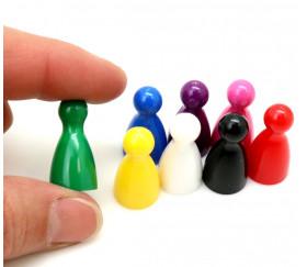 8 pions joueurs plastiques pour jeux 24 x 12 mm - mini quilles
