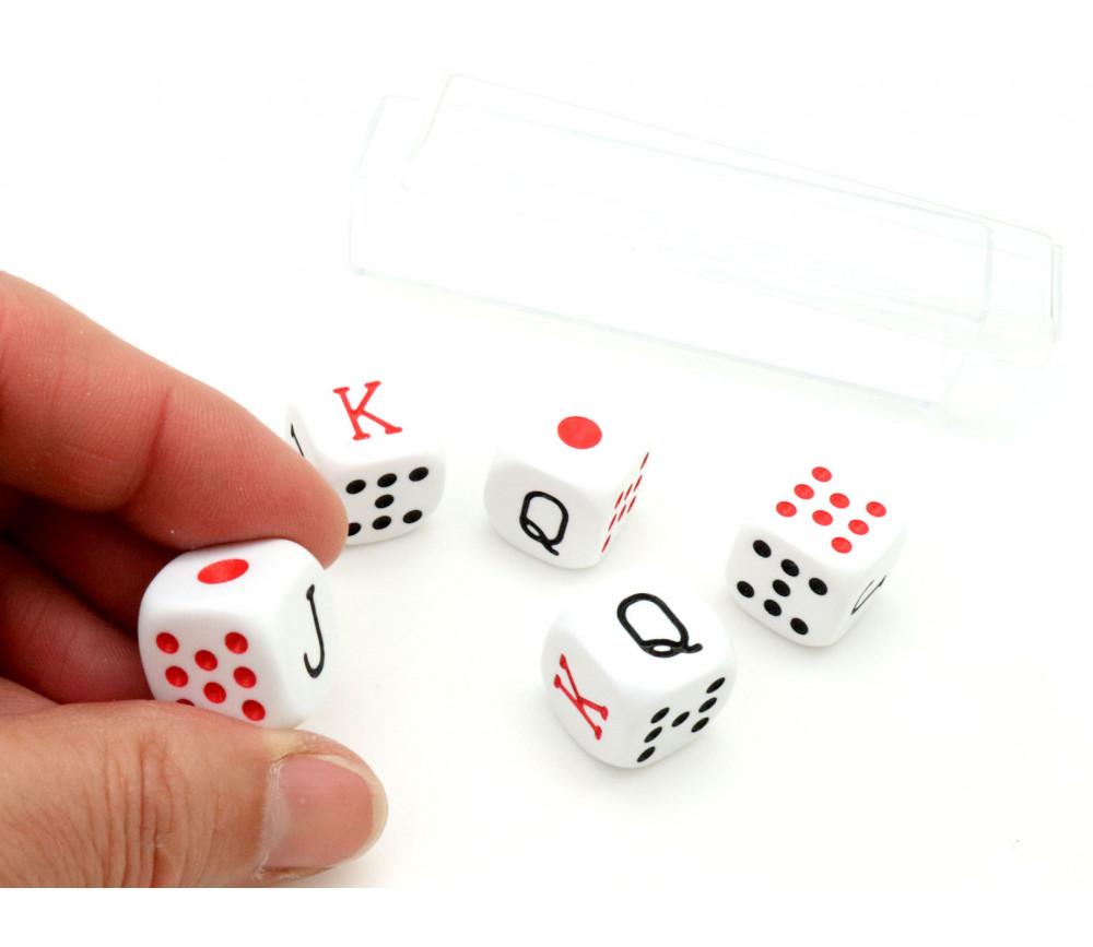 Lot 5 dés poker américain 16 mm