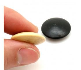 10 Palets galets buis jeu de go (5 noirs/5 naturels) 2.3 cm