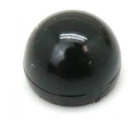 Pion dome 12x17 mm demi boule plastique noire à l'unité