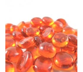 Tube 40 galets oranges translucides pierre de vie 12 x 7 mm