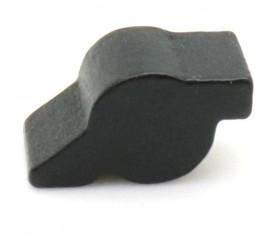 Pion petit canon en bois noir 20x10x10 mm