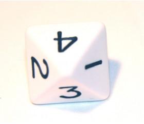 Dé 8 faces : 1234 et 1234