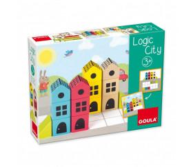 Jeu de cubes en bois Logic City