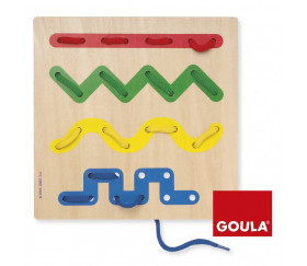 Jeu de laçage écriture - GOULA