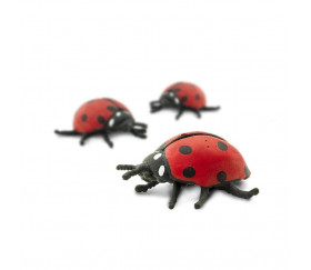 Figurine mini mini coccinelle rouge 25 x 25 x 10 mm
