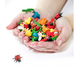 Figurine mini mini coccinelle rouge 25 x 25 x 10 mm