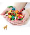Figurine mini mini cochon rose 25 x 25 x 10 mm
